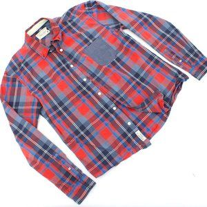 Jack & Jones Plaid Long Sleeve Button Down Shirt.